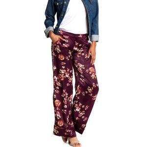 Harlow & Graham Silky Print Pants Large